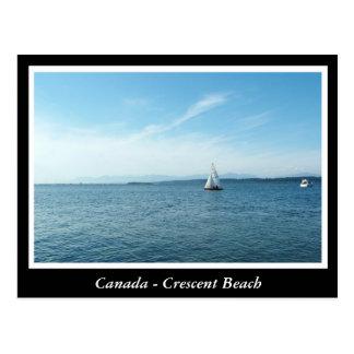 A.C., Canadá, playa creciente Postal