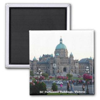 A.C. edificios/Victoria A.C. Canadá del parlamento Imán Cuadrado