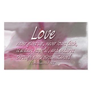 A.C. escrituras del amor Plantillas De Tarjeta De Negocio