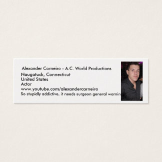 A.C. World Productions Ad Cards