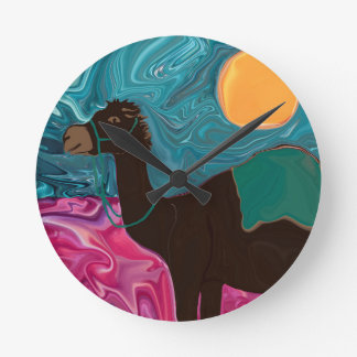 A Ca-Mel Named Lili Round Clock