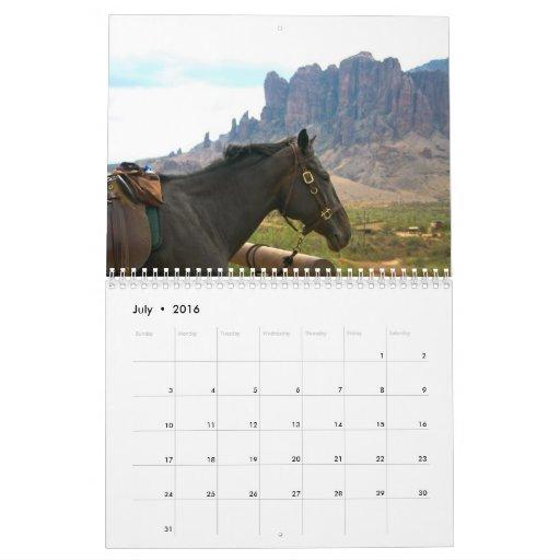 A caballo calendario