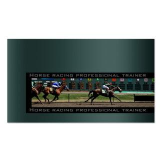 A caballo competir con la favorable tarjeta de tarjetas de visita