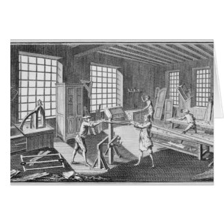 A cabinet maker's workshop, from the 'Encyclopedie Card