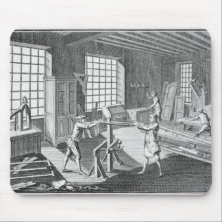 A cabinet maker's workshop, from the 'Encyclopedie Mouse Pad
