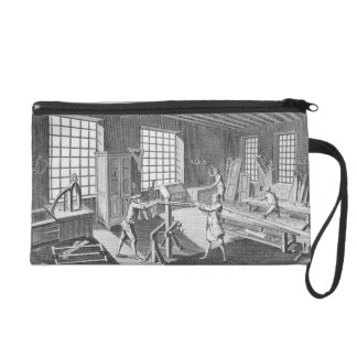 A cabinet maker's workshop, from the 'Encyclopedie Wristlet Purse