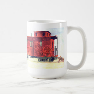 A caboose at the end of the line classic white coffee mug
