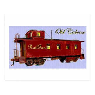A Caboose Postcard