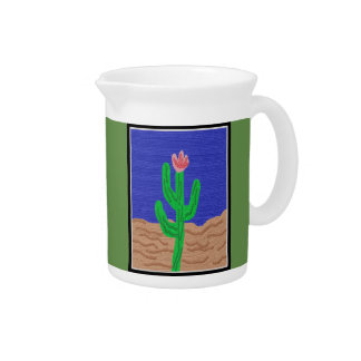 A Cactus Flower Drink Pitcher