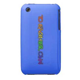 A cada su propio AZUL del caso del iphone 3G Case-Mate iPhone 3 Carcasa