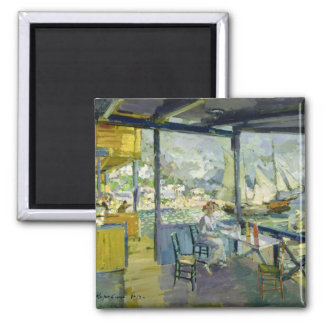 A Cafe in Gursuph, 1914 2 Inch Square Magnet