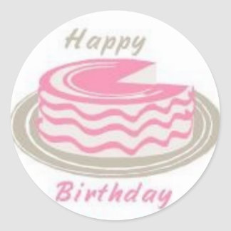 A Cake For Your Birthday Classic Round Sticker