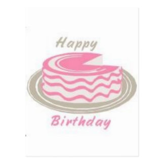 A Cake For Your Birthday Postcard
