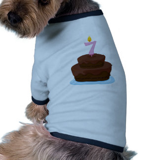 A cake with candle dog tee
