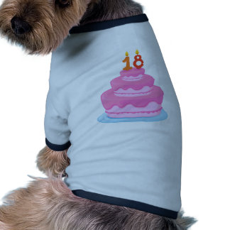 a cake with candle dog t-shirt