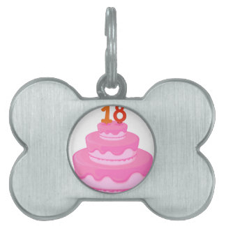 a cake with candle pet tag