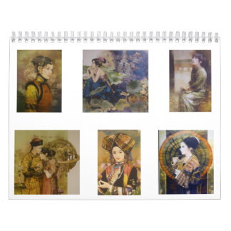 A calendar of traditional Chinese courtesans