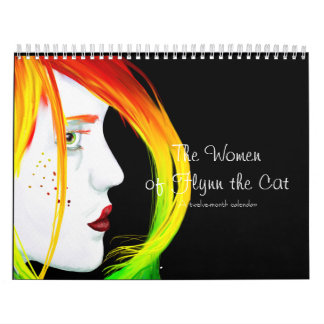 A Calendar: Women by Flynn the Cat (Black Cover) Calendar