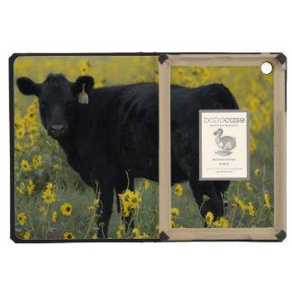 A calf amid the sunflowers of the Nebraska iPad Mini Covers