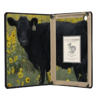 A calf amid the sunflowers of the Nebraska iPad Mini Cover