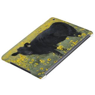 A calf amid the sunflowers of the Nebraska iPad Air Cases