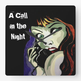 'A Call in the Night' Wall Clock