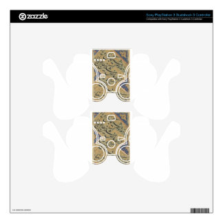 A Calligraphic Leaf by Mir Ali Tabrizi Decal For PS3 Controller