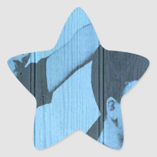 A cama sin cena pegatina en forma de estrella
