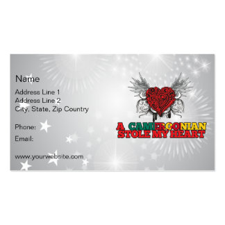 A Cameroonian Stole my Heart Double-Sided Standard Business Cards (Pack Of 100)