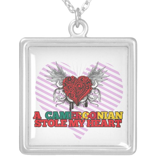 A Cameroonian Stole my Heart Silver Plated Necklace