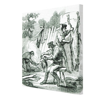 A camp Kitchen, 1856 Stretched Canvas Prints