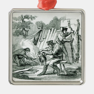 A camp Kitchen, 1856 Metal Ornament
