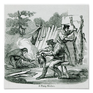 A camp Kitchen, 1856 Poster