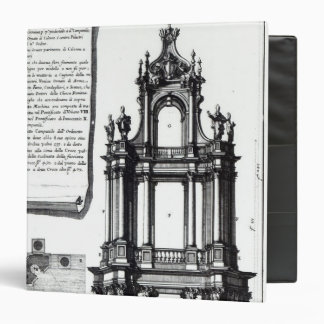 A campanile designed for St. Peter's, Rome 3 Ring Binder