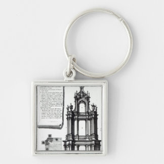 A campanile designed for St. Peter's, Rome Keychain