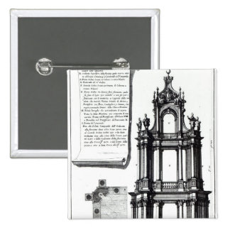 A campanile designed for St. Peter's, Rome Pinback Button