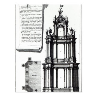 A campanile designed for St. Peter's, Rome Postcard