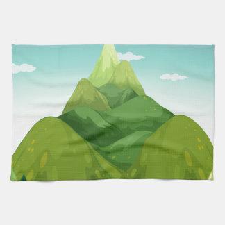 A camping tent towel