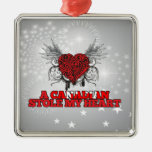 A Canadian Stole my Heart Christmas Ornament