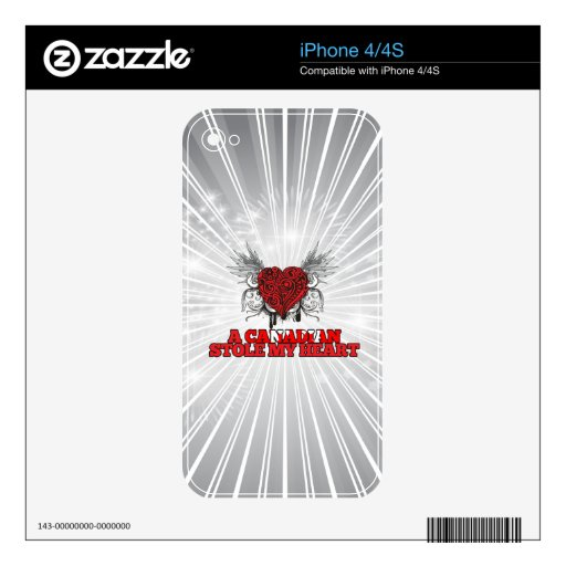 A Canadian Stole my Heart Skins For iPhone 4