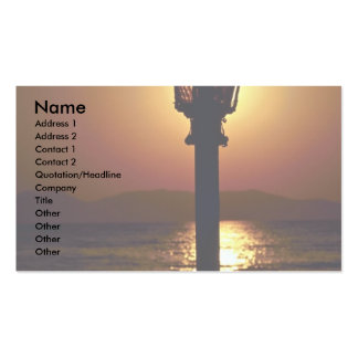 A candelabrum backed by a sunset, Aegean Sea, Turk Business Cards