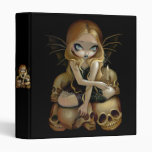 A Candle in the Dark gothic fairy skull Binder