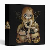 art, fantasy, candle, candles, skull, skulls, skeleton, skeletons, cemetery, gothling, bat, wing, batwings, wings, blonde, blond, dark, dark fantasy, gothic fantasy, goth fairy, goth, gothic, eye, eyes, big eye, big eyed, jasmine, becket-griffith, becket, griffith, jasmine becket-griffith, jasmin, strangeling, artist, fairy, gothic fairy, faery, fairies, faerie, Fichário com design gráfico personalizado