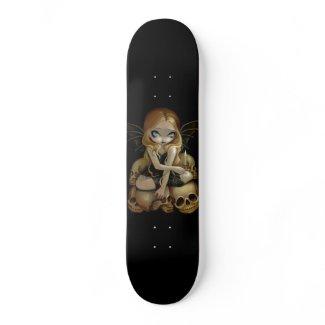 A Candle in the Dark gothic fairy skull Skateboard skateboard