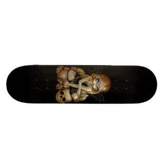 A Candle in the Dark gothic fairy skull Skateboard