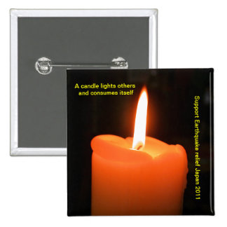 A candle lights others and consumes itself pin