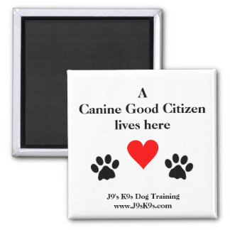 A Canine Good Citizen lives here Magnet