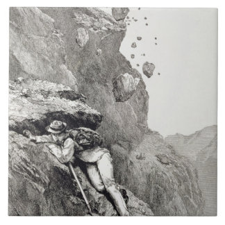 A Cannonade on the Matterhorn, 1862, from 'The Asc Ceramic Tile