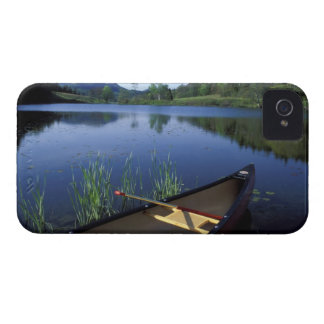 A canoe rests on the shore of Little Long Pond iPhone 4 Case-Mate Case