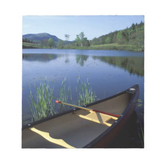 A canoe rests on the shore of Little Long Pond Notepad